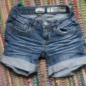 Indigo Rein Distressed Denim Shorts